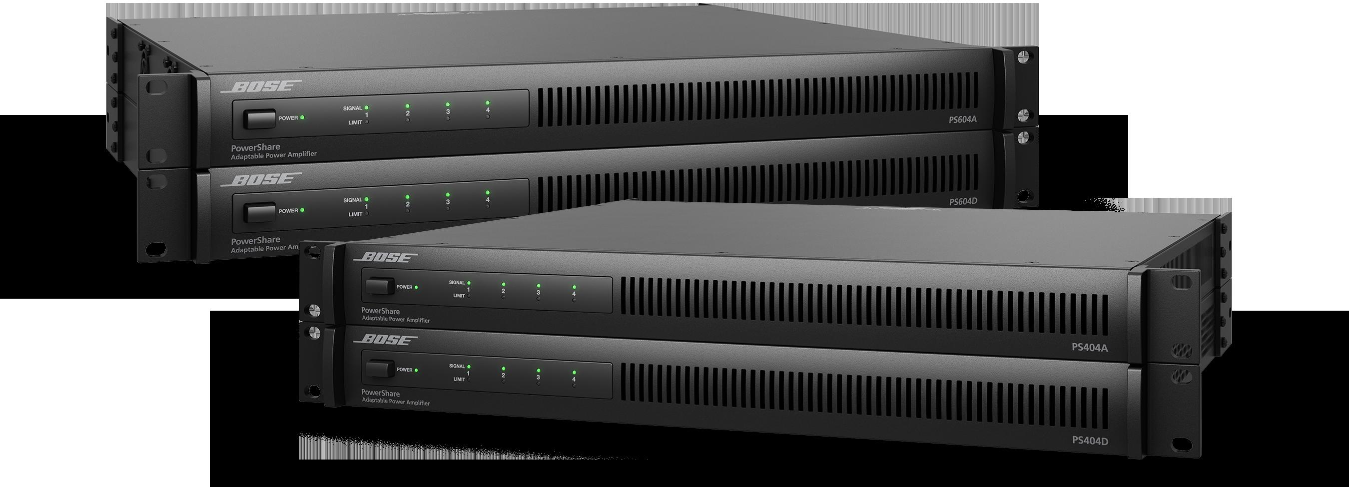 Nuevos amplificadores Bose PowerShare Dante