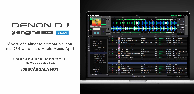 Nueva actualización de software DENON DJ ENGINE PRIME v1.3.4