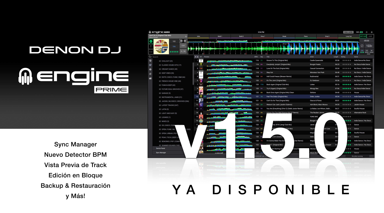 Actualización del software Engine Prime v1.5