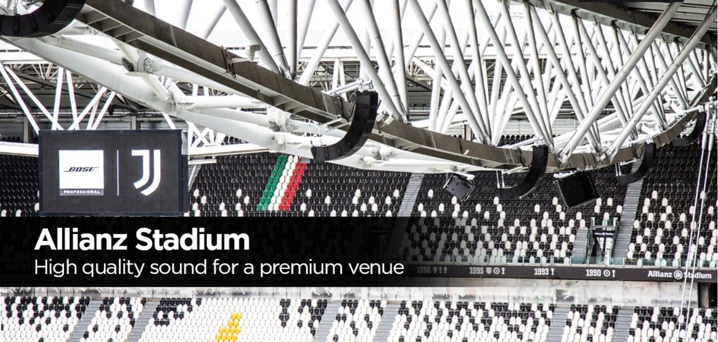 Bose Professional mejora la experiencia de los fans de la Juventus en el Allianz Stadium
