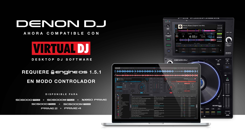 Denon DJ anuncia compatibilidad con Virtual DJ