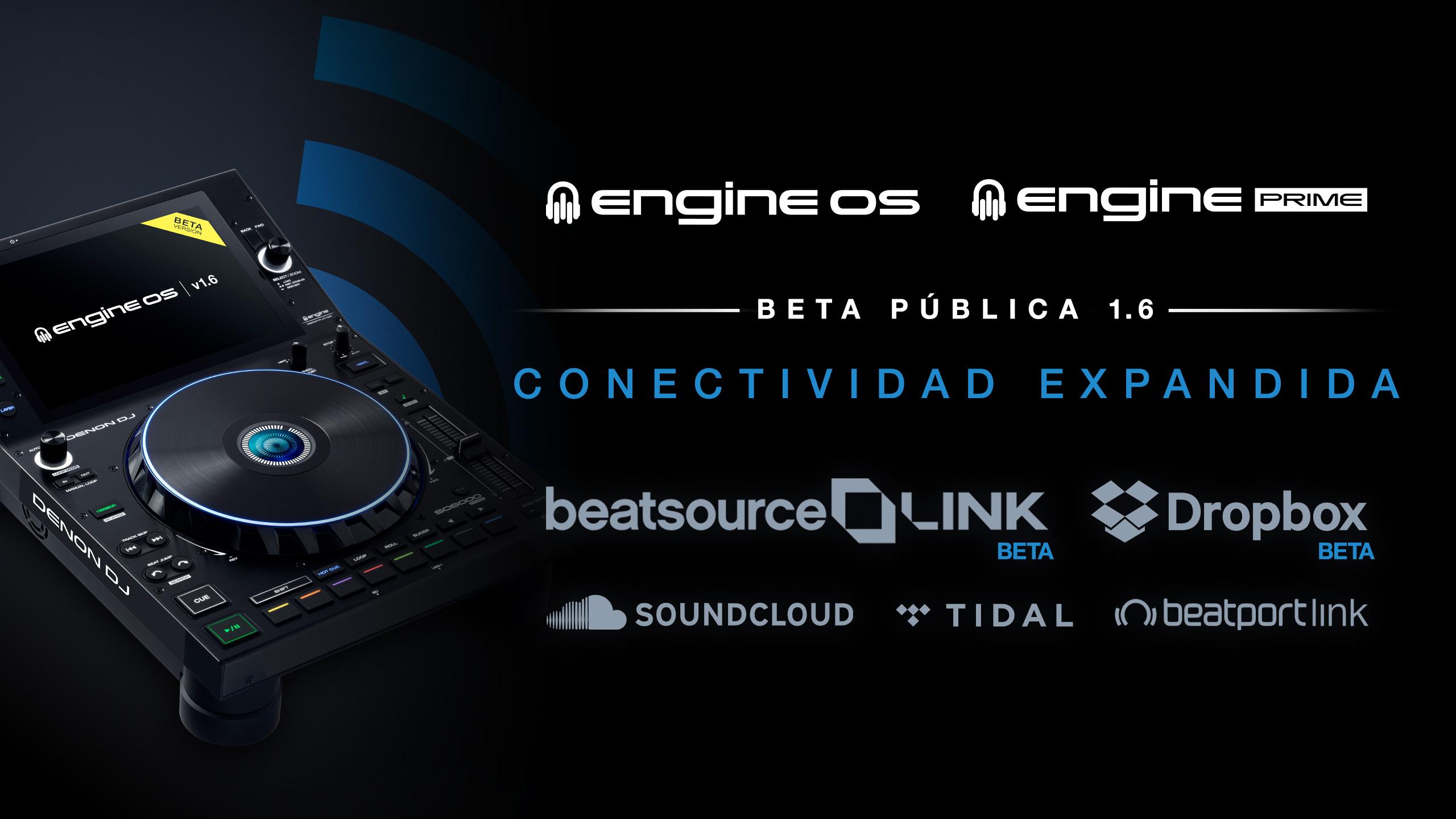 ENGINE® DJ expande su conectividad a la nube con la Beta pública para Dropbox y Beatsource Link