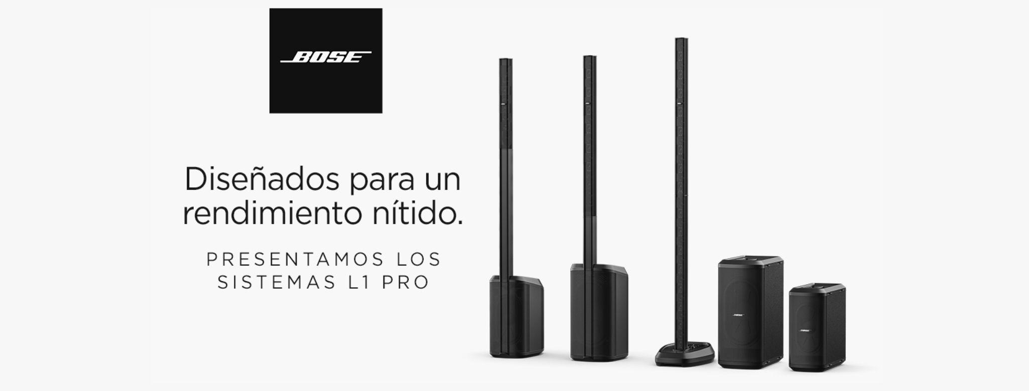 Bose presenta su nueva línea de sistemas de array lineal portátil L1 Pro